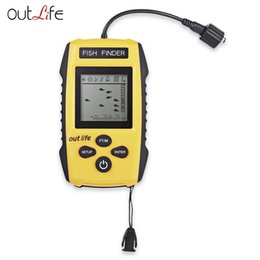 Wholesale carp alarms - Outlife Brand Fish Finders Alarm 0.7 - 100M 200KHz Portable Sonar LCD Fishing Lure Bait Echo Sounder Carp Fishing Finder