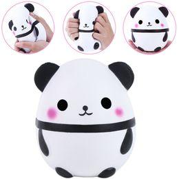 Детские игрушки для панды онлайн-15 см PU Squishy Panda яйцо кукла мягкий Джамбо крем душистые Squeeze медленный рост моделирование хлеб Dcompression детские игрушки дети игрушки AAA173