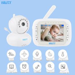 Video remoto del bebé online-Video inalámbrico Monitores para bebés 3.5 pulgadas PTZ Remoto Girar Bebé arrullo electrónico enfermera Monitor Nanny camara vigilancia bebe