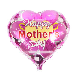 Wholesale happy sales - Helium Coating Balloon Parents Party Decoration Metallic Balloons Happy Mothers Fathers Day Theme Foil Ball Creative Hot Sale 0 55hy Z