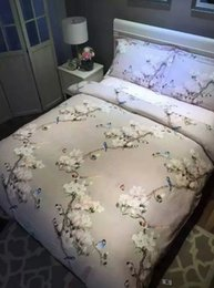 Argentina Juego de sábanas con estampado de pájaros sábanas funda nórdica ropa de cama floral mariposa king size reina colchas de doble edredón de algodón grueso supplier butterfly queen sheet set Suministro