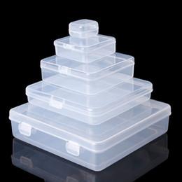 Anneaux carrés en plastique en Ligne-Boîtes de rangement carrées transparentes en plastique Boîtes à bijoux Perles Boîtes à bijoux Boite à bijoux