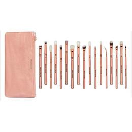 Wholesale Brand Bella - BELLA CULLEN 17pcs Pro Brand make up brushes Makeup Artist Cosmetics Pink Bag Rose Golden Vol. 3 eye makeup brushes set case