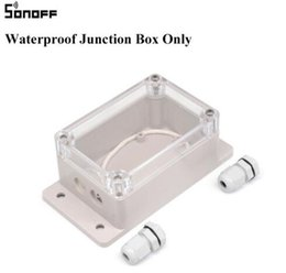 Wholesale Waterproof Infrared Video Camera - Sonoff Waterproof IP66 Plastic Cable Wire Connector Gland Electrical 2 Way ABS Material Junction Box use on wifi controller
