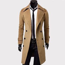 Trench coat da uomo Classico trench coat doppio petto Masculino Abbigliamento lungo giacche spesse Cappotto stile britannico overcoat 4XL da pizzi fluorescenti fornitori