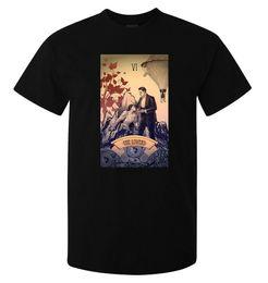 Canada The Lovers Tarot Card Art Logo hommes (femme disponible) t-shirt noir Offre