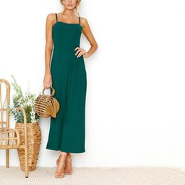 029f811cb5a0 black green bodycon jumpsuit NZ - Elegant Women Jumpsuits Casual Sexy  Sleeveless Zipper Office Lady Bodycon