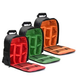 рюкзаки для фотоаппаратов Скидка New Camera Backpack Bag Waterproof Lens Case Rucksack For DSLR Canon EOS Nikon FTS