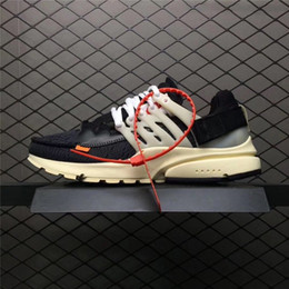 Wholesale Red Tens - 2018 New The Ten Virgil Abloh Off x Air Presto Men Running shoes Women OW Outdoor White Sport Shoes US 5.5-11