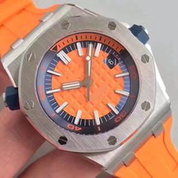 Wholesale Gold Mens Divers Watch - Top Luxury Men's Watches Men Luxury Brand aaa+ Quality Sport Diver watches 42mm 15703ST Mechanical Mens Watches reloj de waterproof 50M