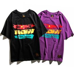 Wholesale California Shirts - Men's T-shirts Spring Summer New Short Sleeved T-shirt California High Street Hip Hop Men Women's Tee
