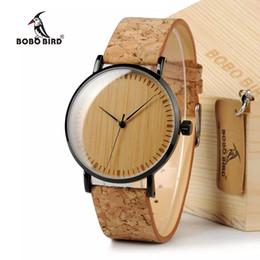 faixas de couro para homens Desconto Fresco dos homens Designer de Hora Verde Mãos De Bambu De Madeira Relógios Reais Relógios De Couro Faixas Para Homens