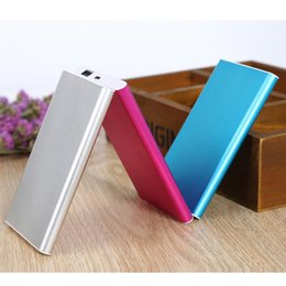 Wholesale Thin Battery Charger - Untra Thin Power Bank 8000mah Powerbank External Battery Charger Bank Power for Iphone HTC Nokia Samsung