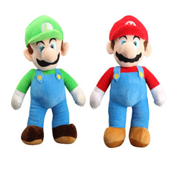"Wholesale Luigi Figure - Hot Sale 2 Style 9"" 23CM MARIO & LUIGI Super Mario Bros Plush Doll Stuffed Toys For Baby Good Gifts"