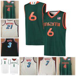 4d0e10b8d Miami Hurricanes Rashad Muhammad 4 Lonnie Walker IV 3 Vice City Edition  Dwyane Wade Goran Dragic Hassan Whiteside College Basketball Jersey