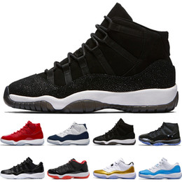 Wholesale black baron - 11 11s Prom Night Men Basketball Shoes blackout Easter Gym Red Midnight Navy GS PRM Heiress Barons Closing Concord Bred University Blue Moon