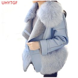 Korea modegewebe online-Mode Mantel weiblich Winter Frau Mäntel 2018 Korea Mantel von Frauen Kaschmir Langarm Pelzkragen Tops High Grade Fabric