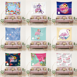 Wholesale Elephants Wall Decor - 150*100CM Polyster Wall Hanging Blankets 60 Styles Flamingo Elephant Beach Tapestries Home Cloth Background Tapestry Home Decor T2I192