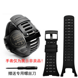 fibbia suunto orologi Sconti Cinturino cinturino in silicone nero con cinturino 35mm per SUUNTO Ambit 1 2 3 2R 2S Cinturino sportivo sostitutivo