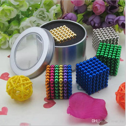 Wholesale 216 magnets - 216 pcs Neo Cube Magic Puzzle Metaballs Magnetic Ball With Metal Box 15 Colors Magic cubes Option 5mm Magnet Colorfull Magic Toys