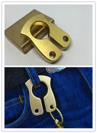 2020 латунь для ключей 10 мм латунь брелок EDC палец кольцо латунь костяшки разбитое окно самообороны поставок ключевой кулон MenFashion аксессуары дешево латунь для ключей