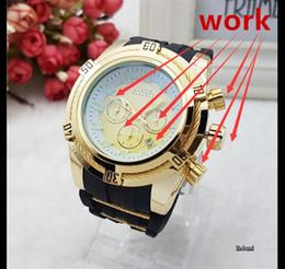 Wholesale box calendar - Luxury Brand INVICTA Men's Watch Dual Movement 6 Pointer Sport Watches Brand Watches & Watches box &aaa watch