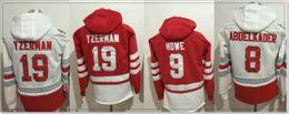 2019 jersey de steve yzerman Hombres Detroit # 8 Justin Abdelkader 9 Gordie Howe 19 Steve Yzerman Hockey sobre hielo Camisetas Deportes Pro Jerseys Suéteres Bordados Uniformes de bordado jersey de steve yzerman baratos