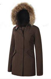 Quente! Inverno Marca New Big guaxinim Real imagem Womens ártico Parka Quente Real Ganso Jaqueta de Penas Para Baixo casaco de
