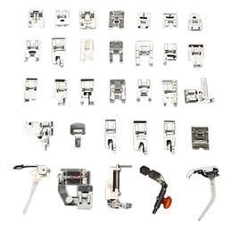 Wholesale brother presser foot - heap presser foot feet 1Set knitting needle Domestic Sewing Machine Braiding Blind Stitch Darning Presser Foot Feet Kit Set For Brother S...