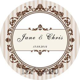 2019 etiquetas feitas sob encomenda para o casamento Frete Grátis, Novo Papel, Custom Adesivo Adesivo / Etiqueta, Para O Casamento / Festa, Círculo 5 cm desconto etiquetas feitas sob encomenda para o casamento