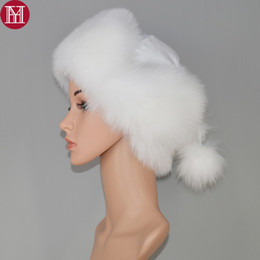 70af665a74e034 2018 New Arrival Fur Hat for Women Real Natural Raccoon Fox Fur Russian  Ushanka Hats Winter Thick Warm Ears Fashion Bomber Cap