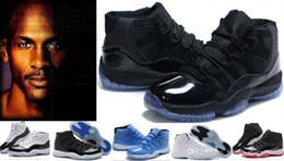 chaussures en ligne high-cut Promotion Vente chaude 11 Space Jam Gamma Bleu Prom Night Cap et Robe Chaussures de Basket-ball 11 s Bred Concords Sneakers Gym Rouge Athlétisme Chaussures 7-13-12
