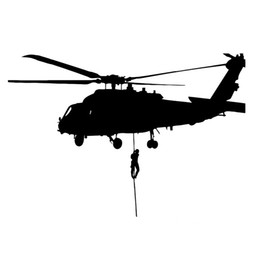 Wholesale roof air - helicopter air force military vinyl car sticker laptop decal cabinet decal CA-206