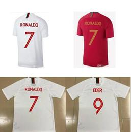 Wholesale Ronaldo T Shirts - CRISTIANO RONALDO:7 soccer jerseys World Cup Jersey 18 CR7 QUARESMA NANI EDER Football kit Shirt camisa de futebol t shirt:POrTuGal