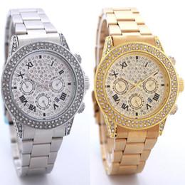 Wholesale digital bracelet watches for men - luxury branded famous elegant designers Man gold watches diamonds relogio feminino aaa quality steel strap bracelet watch for men tops