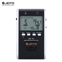 Wholesale Generator Digital - JOYO JM-90 Universal Rechargeable Li-ion Battery Digital Metronome Tone Generator Tuner with LCD for Guitar Violin Ukulele