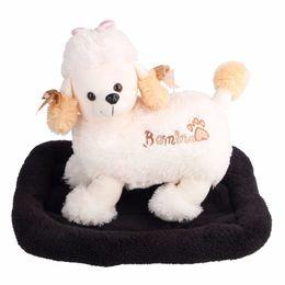 2019 accessoires de lits de chien Fiber Dog Lit Noir Maison Pet Tapis Homelike Pads Chien Accessoires Confortable Pet Supplies pour Petit Chien Chat Pet HXG069 accessoires de lits de chien pas cher