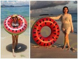 Anneaux de natation d'été tours de piscine pool party Lifebuoy Float Mattress Cercle de natation Adult kid Melon d'eau de plage Jouets gonflables d'eau ? partir de fabricateur