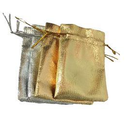 Argentina Bolsas con cordón de oro / plata Bolsos de caramelo Bolsos de regalo de joyería Bolsas de colección de maquillaje de jabón Suministro