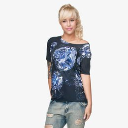 girls graphic tees Promo Codes - Women T-shirt Diamond 3D Full Print Girl Free Size Stretchy Casual Tops Lady Short Sleeves Digital Graphic Tee Shirt Blouse (GL28830)