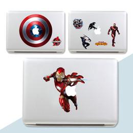 Carteles de la pared de superhéroes online-Decoración del hogar Posters Stickers The Avengers Cartoon DIY Captain America Pegatinas de Pared Para Habitaciones de Niños Marvel Super Hero Tatuajes de Pared
