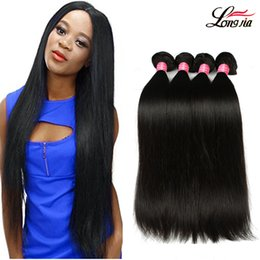 Wholesale Black Bundle - Brazilian straight Virgin Hair 3 Bundles 8A Brazilian virgin Hair straight Unprocessed Peruvian Malaysian Body virgin Human hair Extensions