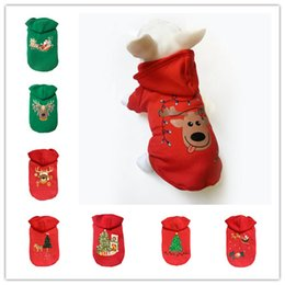 Wholesale pet supplies clothes - 4 Size dog clothes high quality teddy bichon Christmas clothes cotton sweater dogs apparel 8 styles pet decoration dog supplies free ship