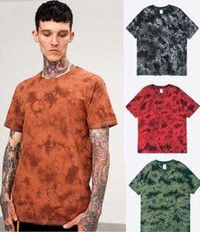 Wholesale Model T Male - Spring summer 2018 basic dye in Europe and the manual crack men's short sleeve T-shirt tide male model