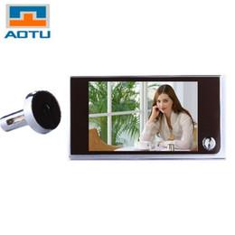Wholesale Lcd Peephole Door Viewer - AOTU Multifunction Home Security 3.5inch LCD Color Digital TFT Memory Door Peephole Viewer Doorbell Security Camera Image Sensor