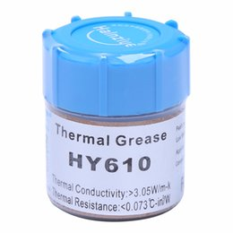 Wholesale greasing silicone - 10g HY610-CN10 Thermal Grease Chipset CPU Cooling Compound Silicone Paste 3.05W New Drop shipping
