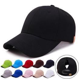 Men Women Adjustable Ponytail Tennis Caps Simple Solid Outdoor Sports  Baseball Tennis Cap Dropshipping 0816 16f39e96f175