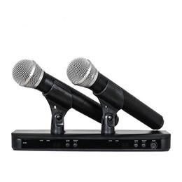 Alta calidad BLX288 / PG58 BLX88 PG58A UHF Micrófono Inalámbrico Sistema de Karaoke Con PG58 Micrófono de Transmisor de Mano Dual desde fabricantes