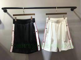 Wholesale trendy sport - 2018 summer newest Luxury brand mens sports leisure shorts Trousers Joggers mens Lettered shorts Pants trendy Mens Designer shorts pants