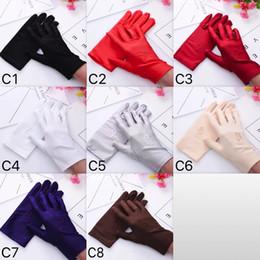Ucuz Spandex Beş Parmak Eldiven Ince Gerçekleştirmek Eldivenler Beyaz Dans Kadınlar Ve Erkekler Için Eldivenler 8 Renkler Toptan nereden